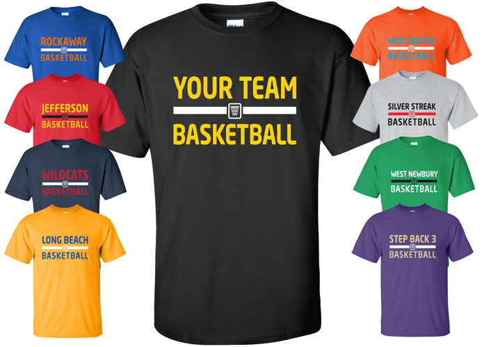 Custom Basketball Jersey T-Shirt with YOUR TEAM NAME Size S-4XL ... ab7a4ba29